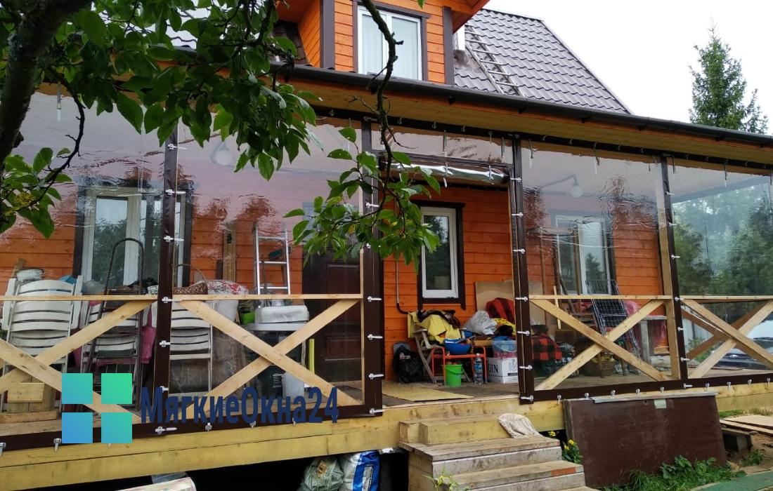 Мягкие окна для террасы дома