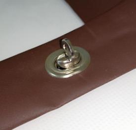 Крепление мягких окон малая французская скоба никель