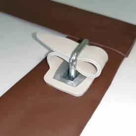 Крепление мягких окон скоба с серым ремешком комплект