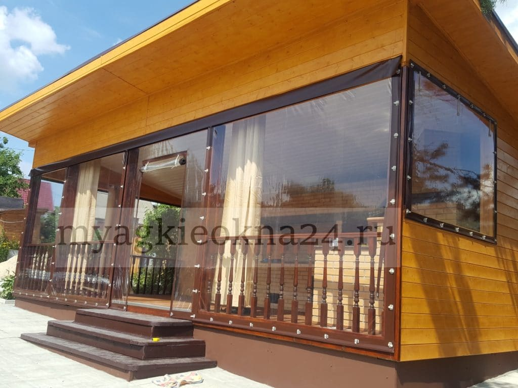 Мягкие окна для террасы в Дубне