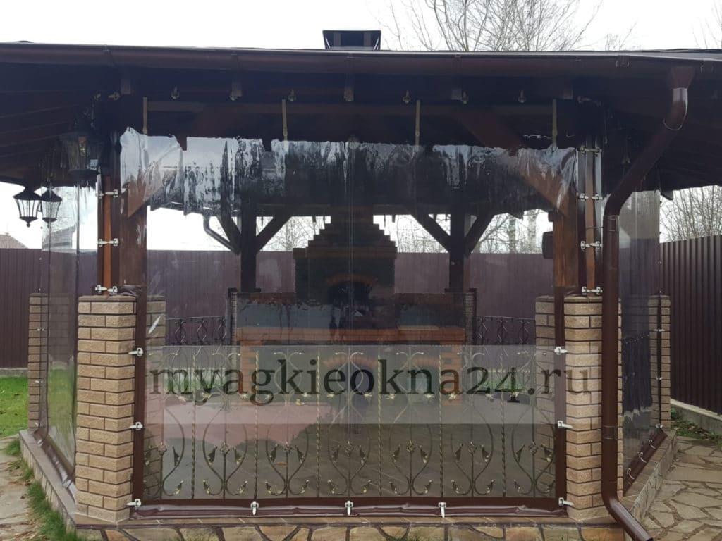 Мягкие окна для беседки Заокский район