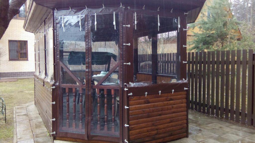 Мягкие окна для для беседки в Чехове