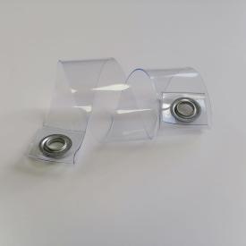 Прозрачный подвязочный ремень для фиксации мягких окон люверс оцинкованный