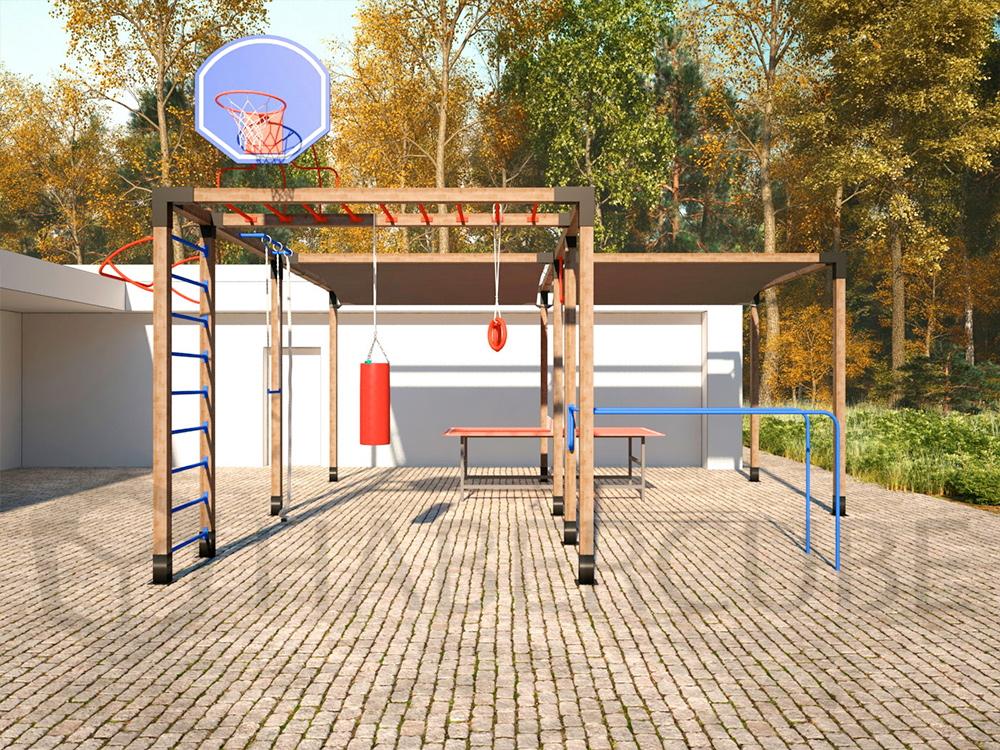 Спортивная площадка на базе быстровозводимой беседки Хаберкуб