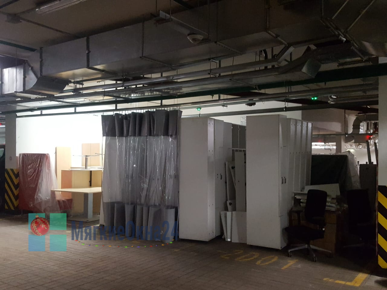 Промышленные шторы ПВХ для автосервиса