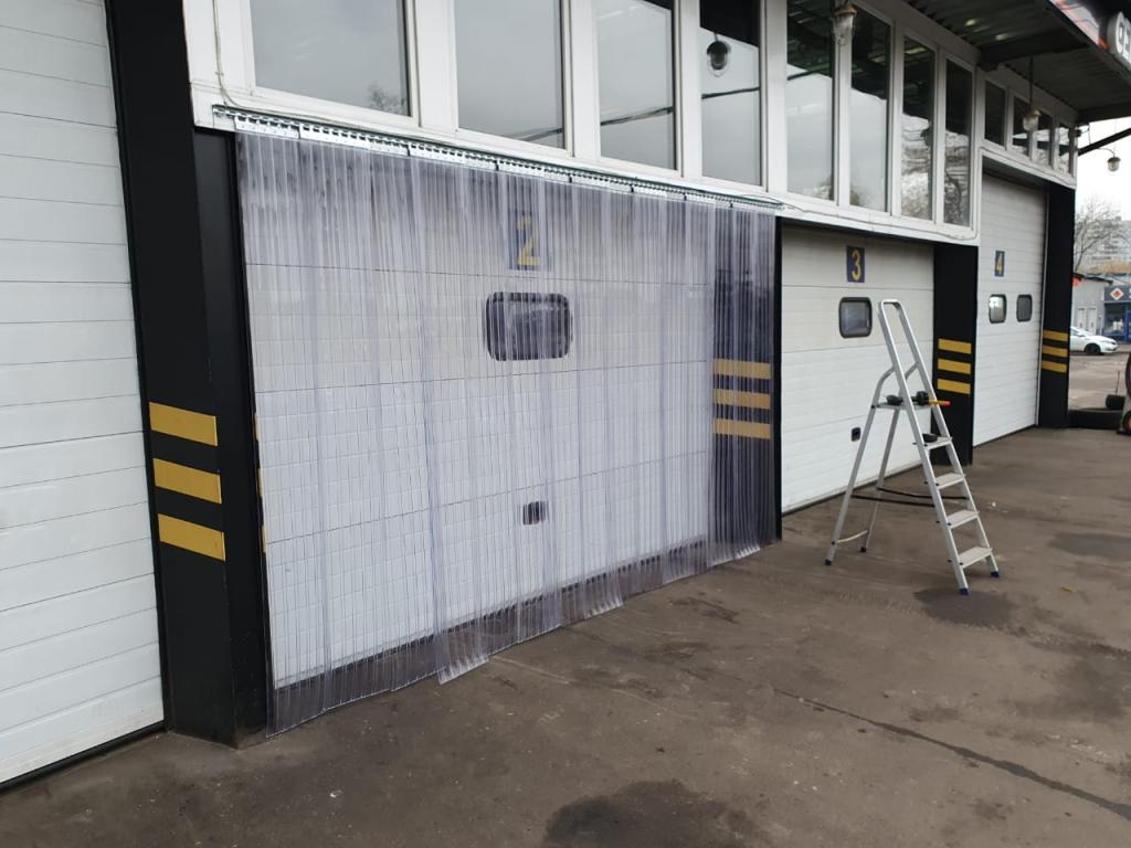 Рифленые завесы ПВХ 300х3 мм