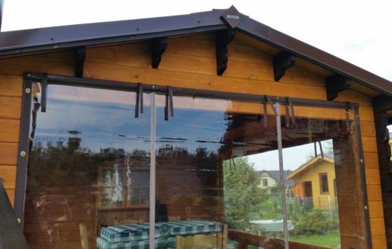 Мягкие окна ПВХ в окантовке скрин