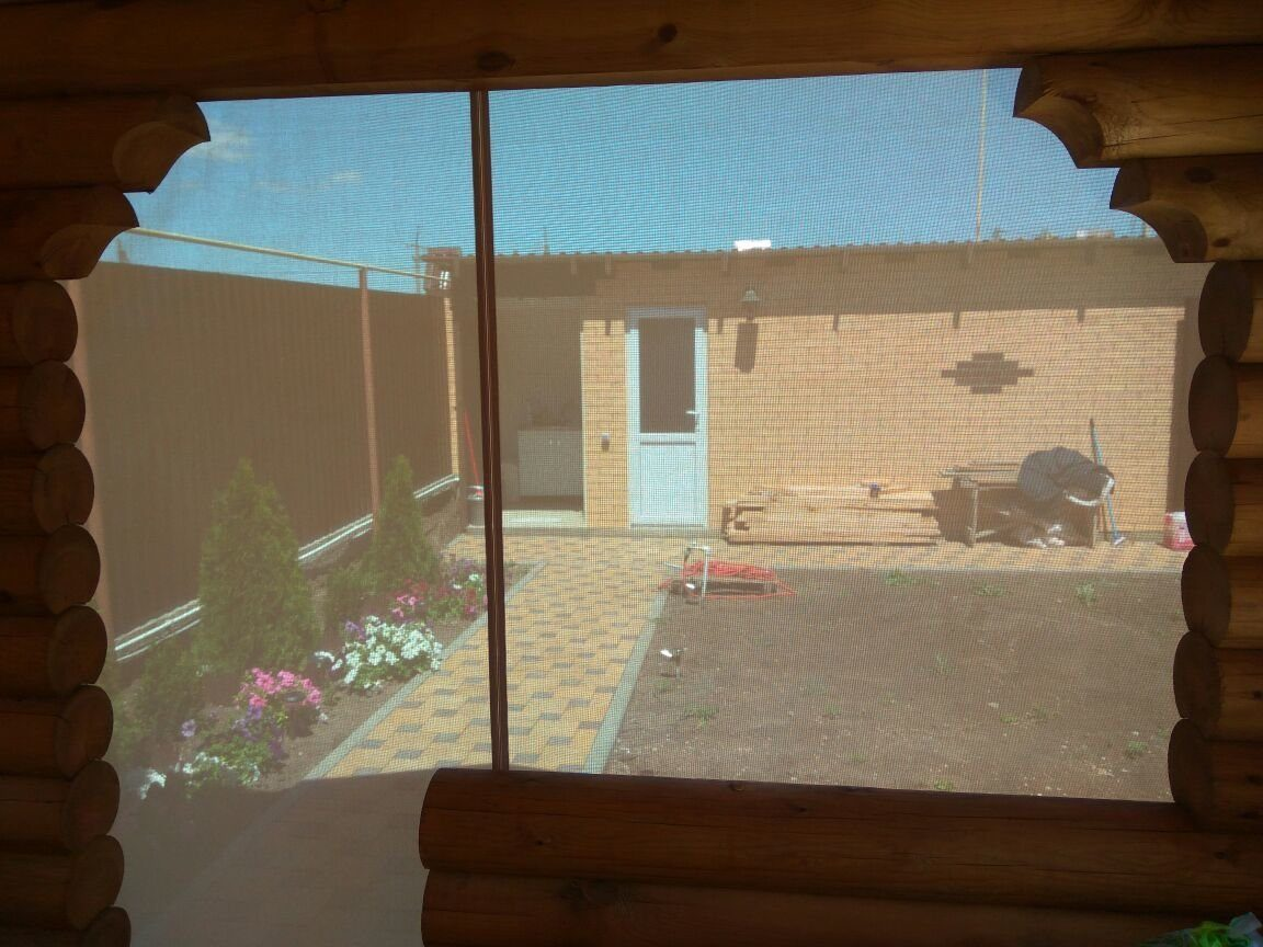 мягкие окна скрин. Вид изнутри