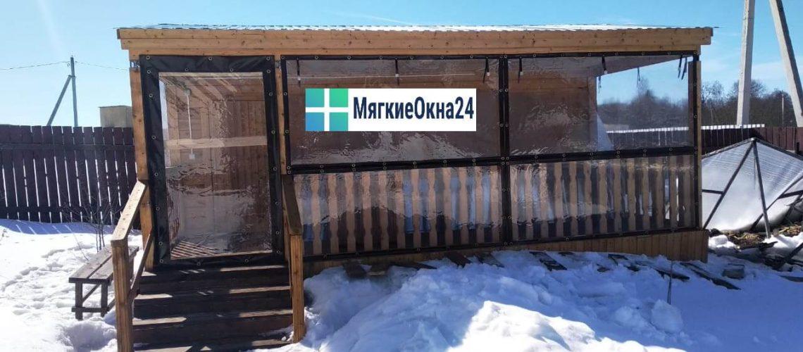 Мягкие окна для беседки в Одинцово фото