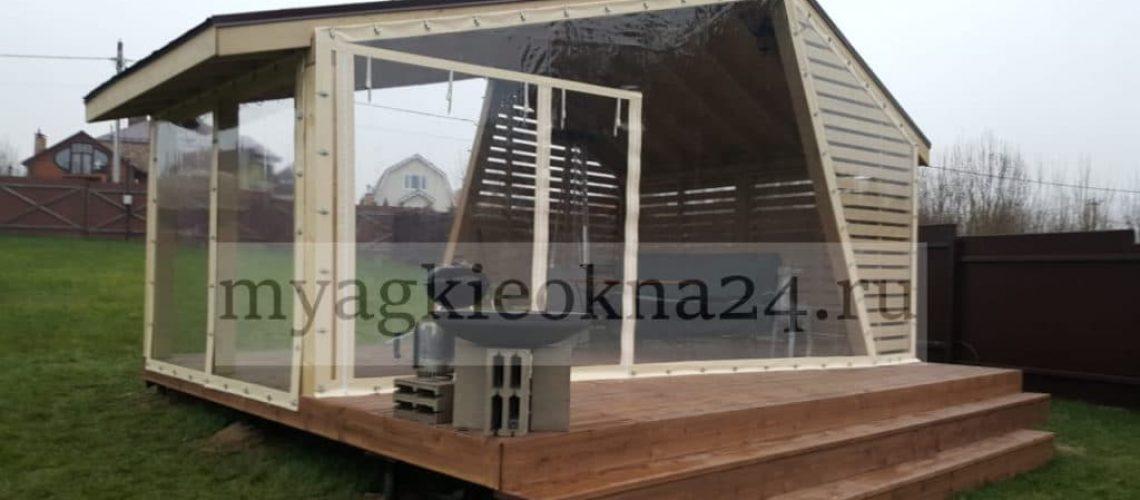 Мягкие окна для беседки Солнечногорск